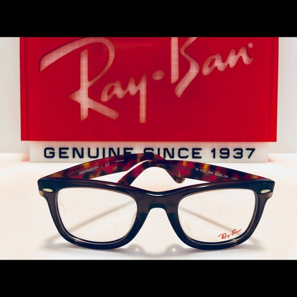 f3be0ce535 ... netherlands ray ban wayfarer eyeglasses opal brown red havana 54cca  cb90b